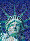 Digital mosaic of small images comprising Statue of Liberty Royalty Free Stock Images