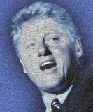 Digital mosaik av små bilder som består av presidenten Bill Clinton Arkivfoto