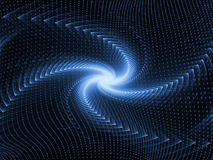 Digital Motion Background. Computer generated light trails suitable for use in projects on modern technology, science and education Stock Photos