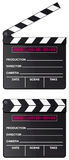 Digital movie clapper board isolated Stock Image