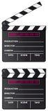 Digital movie clapper board isolated. Digital movie clapper board set isolated on white background Stock Image