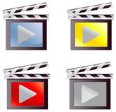 Digital movie media icon set (vector) Royalty Free Stock Photography