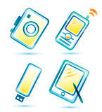Digital multimedia icons Royalty Free Stock Photography