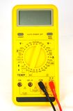 Digital multimeter. Front view of a digital multimeter used in testing electronics circuits stock photography