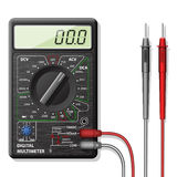 Digital multimeter. Illustrated Digital Multimeter isolated on white background Royalty Free Stock Image