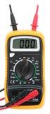 Digital multimeter. Digital multimeter isolated on white stock photography