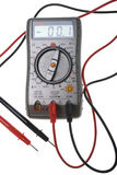 Digital multimeter. Isolated on a white background Stock Images