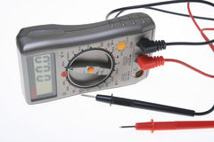 Digital multimeter. Isolated on a white background Royalty Free Stock Photo