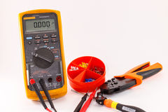 Digital multimeter and accessory Stock Image