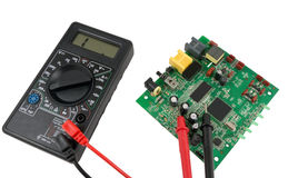 The Digital multimeter Royalty Free Stock Images