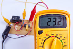 Digital multimeter with board Stock Image