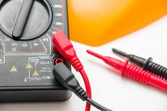 Digital multimeter closeup Stock Photography