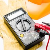 Digital multimeter closeup Stock Photos