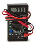 Digital  multimeter with electrical outlet Stock Photography