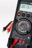 Digital multimeter with focus on multimeter.  Stock Photo