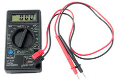 Digital multimeter. Instrument for measuring electricity. isolated stock photography