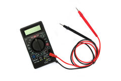 Digital multimeter isolated Royalty Free Stock Photography