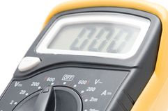 Digital multimeter macro Royalty Free Stock Images