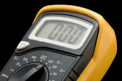 Digital multimeter macro Royalty Free Stock Photos