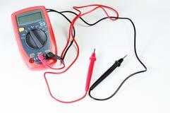 Digital multimeter or multitester or Volt-Ohm meter, an electronic measuring instrument that combines several measurement function. Digital multimeter or stock image