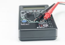 Digital multimeter and probes macro Royalty Free Stock Photography