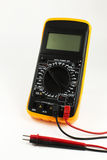 Digital multimeter. With probes on the white background Stock Images