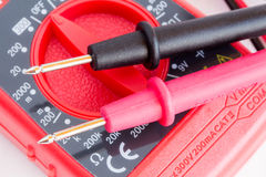 Digital multimeter  with two probes Stock Photo