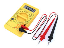 Digital multimeter on white background Royalty Free Stock Photo