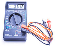 Digital multimeter on white background Stock Image