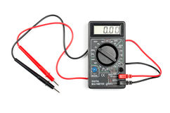 Digital multimeter. With wires on a white background Stock Photography