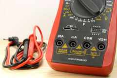 Digital multimeter on a withe background Royalty Free Stock Photo