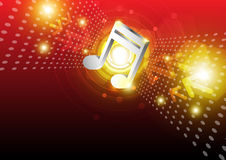 Digital music background design Stock Photos