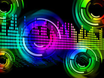 Digital Music Beats Background Means Electronic Music Or Sound F Royalty Free Stock Images