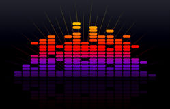 Digital music equalizer Royalty Free Stock Images