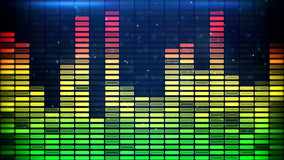 Digital music equalizer classic colors Stock Photo