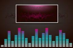 Digital music Equalizer. Vector illustration. Stock Photos