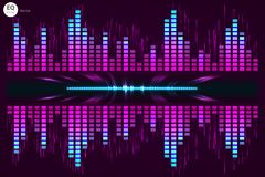 Digital music Equalizer. Vector illustration. Royalty Free Stock Photography