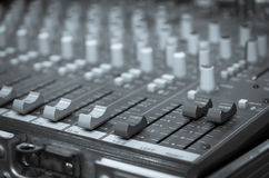Digital music equipment, music mixer with track stock images