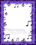 Digital Music Frame. Digitally made music note background vector illustration