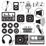 Digital Music Icons Theme Stock Photo