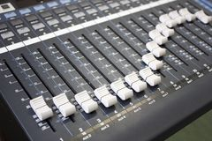 Digital Music Mixer Stock Photo
