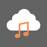 Digital Music Mobile Cloud Database Icon Royalty Free Stock Photo