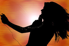 Digital Music Silhouette Royalty Free Stock Photos