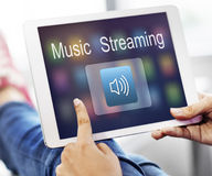 Digital Music Streaming Multimedia Entertainment Online Concept Stock Photo