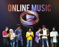 Digital Music Streaming Online Entertainment Media Concept Stock Photography