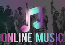 Digital Music Streaming Online Entertainment Media Concept Stock Photos
