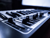 Digital musical piano synthesizer Stock Photo
