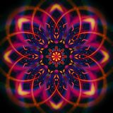 Digital mystic colored mandala Stock Images