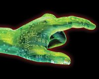 Digital-Nadelanzeige Stockbild