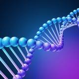 Digital-Natur, Heilkundevektorhintergrund mit DNA-Molekülen lizenzfreie abbildung